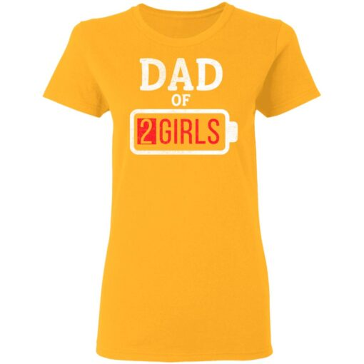 Best Fathers Day Gift Ideas Dad Of 2 Girls T-Shirt 10 of Sapelle