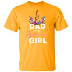 Best Fathers Day Gift Ideas Dad Of The Birthday Girl Unicorn T-Shirt 17 of Sapelle