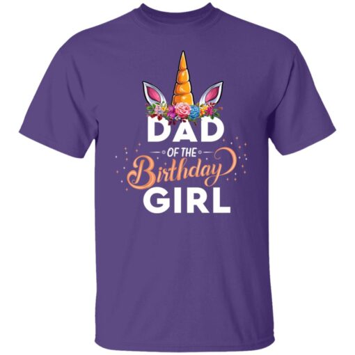 Best Fathers Day Gift Ideas Dad Of The Birthday Girl Unicorn T-Shirt 6 of Sapelle