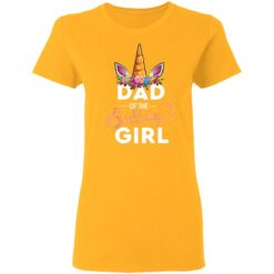 Best Fathers Day Gift Ideas Dad Of The Birthday Girl Unicorn T-Shirt 31 of Sapelle