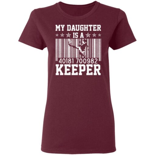 Best Soccer Dad Gifts 2021, Soccer Dad Daughter Goal Keeper T-Shirt 11 of Sapelle