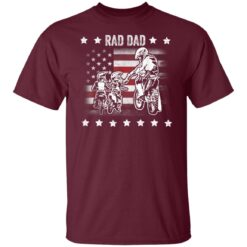 Best Funny Dad Son Gift 2021, Motorbike Rad Dad With American Flag T-Shirt 19 of Sapelle