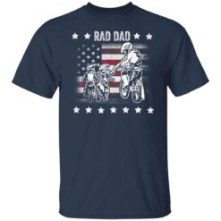 Best Funny Dad Son Gift 2021, Motorbike Rad Dad With American Flag T-Shirt 21 of Sapelle