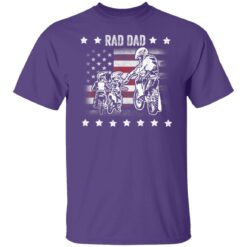 Best Funny Dad Son Gift 2021, Motorbike Rad Dad With American Flag T-Shirt 23 of Sapelle