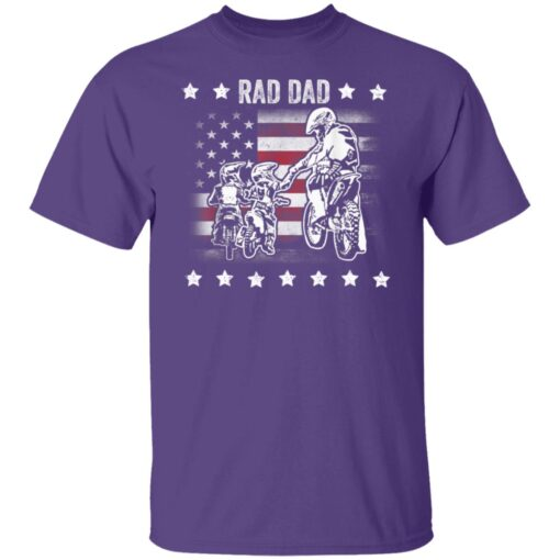 Best Funny Dad Son Gift 2021, Motorbike Rad Dad With American Flag T-Shirt 6 of Sapelle