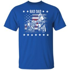 Best Funny Dad Son Gift 2021, Motorbike Rad Dad With American Flag T-Shirt 25 of Sapelle