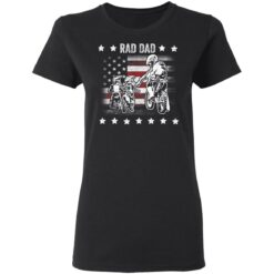 Best Funny Dad Son Gift 2021, Motorbike Rad Dad With American Flag T-Shirt 27 of Sapelle