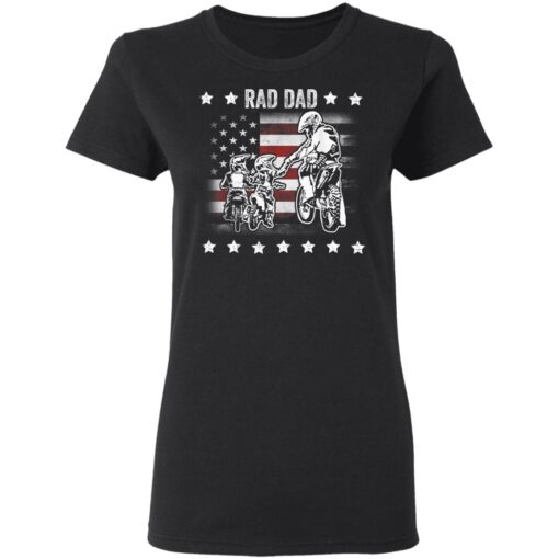 Best Funny Dad Son Gift 2021, Motorbike Rad Dad With American Flag T-Shirt 8 of Sapelle