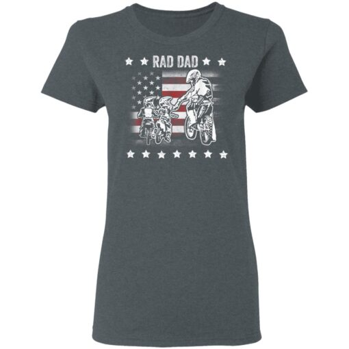 Best Funny Dad Son Gift 2021, Motorbike Rad Dad With American Flag T-Shirt 9 of Sapelle