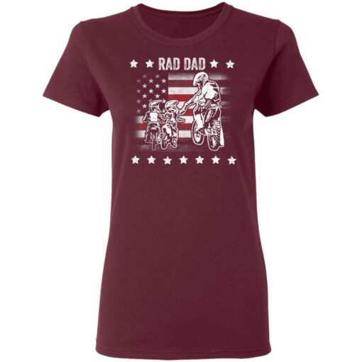 Best Funny Dad Son Gift 2021, Motorbike Rad Dad With American Flag T-Shirt 11 of Sapelle