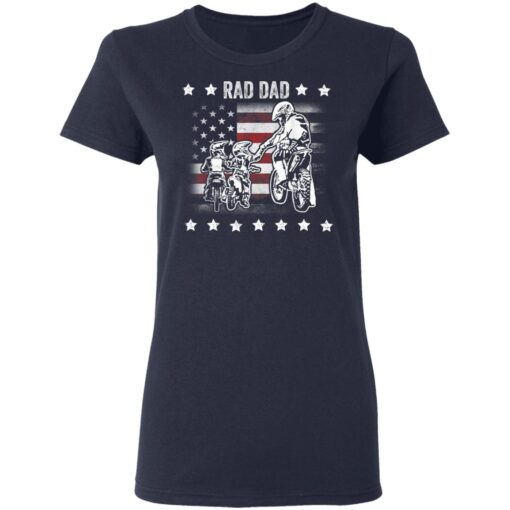 Best Funny Dad Son Gift 2021, Motorbike Rad Dad With American Flag T-Shirt 12 of Sapelle