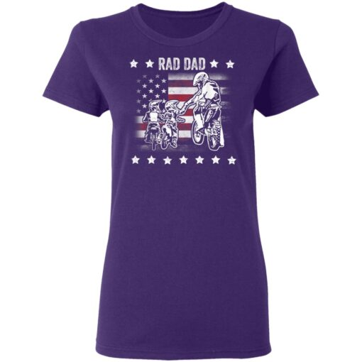 Best Funny Dad Son Gift 2021, Motorbike Rad Dad With American Flag T-Shirt 13 of Sapelle
