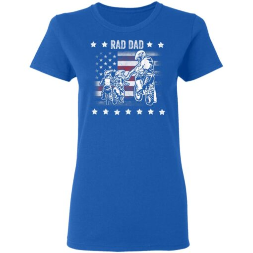 Best Funny Dad Son Gift 2021, Motorbike Rad Dad With American Flag T-Shirt 14 of Sapelle