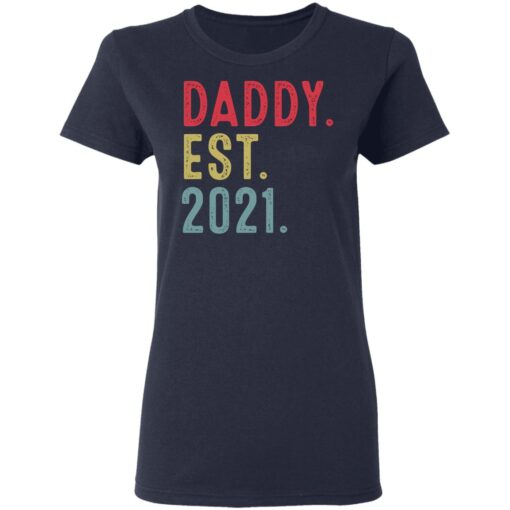 Best Fathers Day Gift, Dad Established 2021 T-Shirt 12 of Sapelle