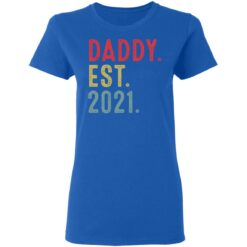 Best Fathers Day Gift, Dad Established 2021 T-Shirt 39 of Sapelle