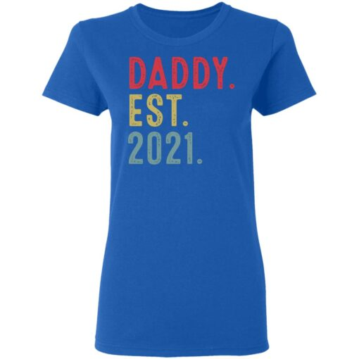 Best Fathers Day Gift, Dad Established 2021 T-Shirt 14 of Sapelle
