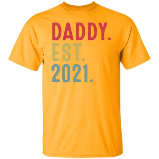 Best Fathers Day Gift, Dad Established 2021 T-Shirt 3 of Sapelle