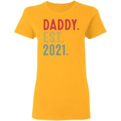 Best Fathers Day Gift, Dad Established 2021 T-Shirt 31 of Sapelle