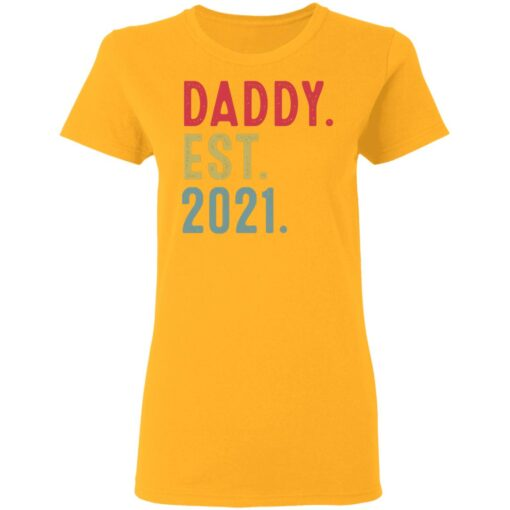 Best Fathers Day Gift, Dad Established 2021 T-Shirt 10 of Sapelle