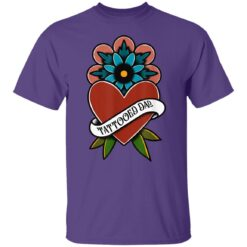 Best Tattooed Flower Gift 2021, Tattooed Dad T-Shirt 23 of Sapelle