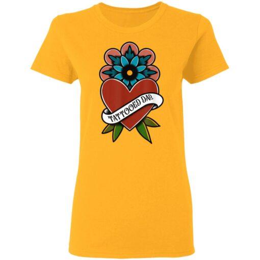 Best Tattooed Flower Gift 2021, Tattooed Dad T-Shirt 10 of Sapelle