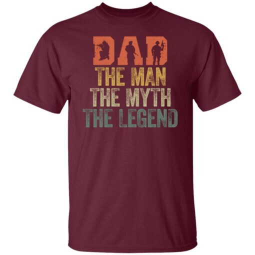 Best Gifts For Navy Dad ,Dad The Man The Myth The Legend T-Shirt 4 of Sapelle
