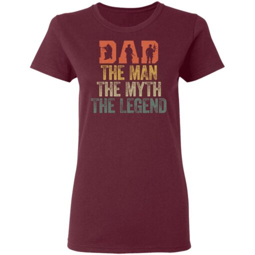 Best Gifts For Navy Dad ,Dad The Man The Myth The Legend T-Shirt 11 of Sapelle