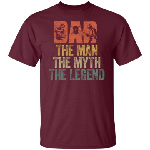 Gifts For Mechanic Dad ,Dad The Man The Myth The Legend T-Shirt 4 of Sapelle
