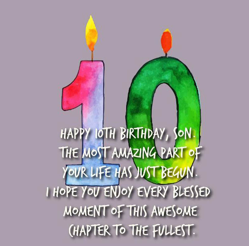 10th Birthday Messages For Boys - 1