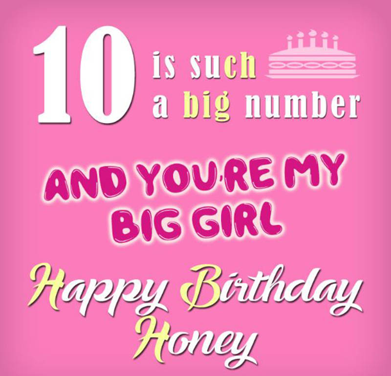10th Birthday Wishes For Girls - 3