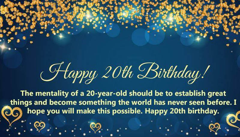 20th Birthday Messages For Son - 1
