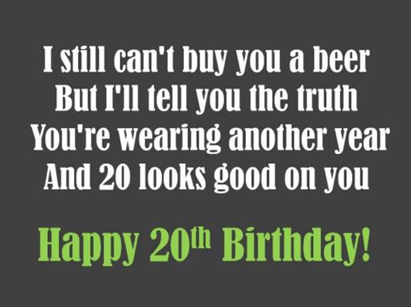 20th Birthday Messages For Son - 2