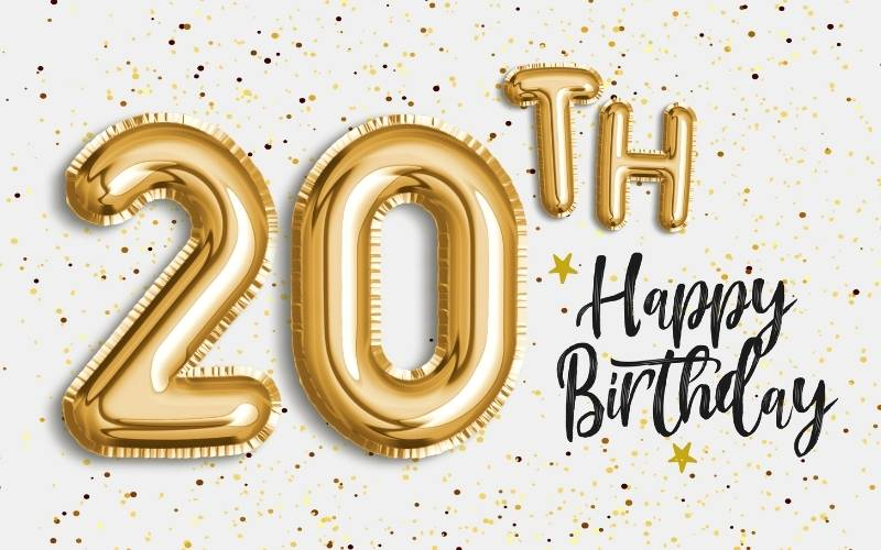 20th Birthday Wishes for a Friend -1