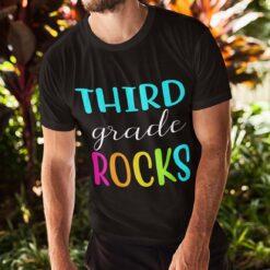 Best 3rd Grade Teacher Gifts, Third Grade Teacher T-Shirt Mockup man