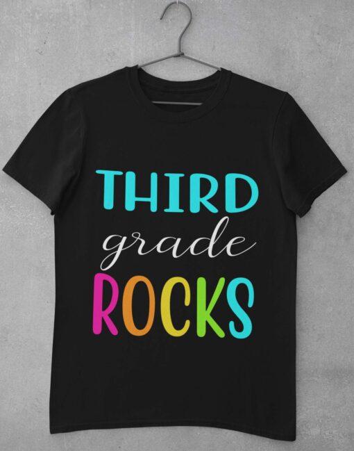 Best 3rd Grade Teacher Gifts, Third Grade Teacher T-Shirt basic mockup