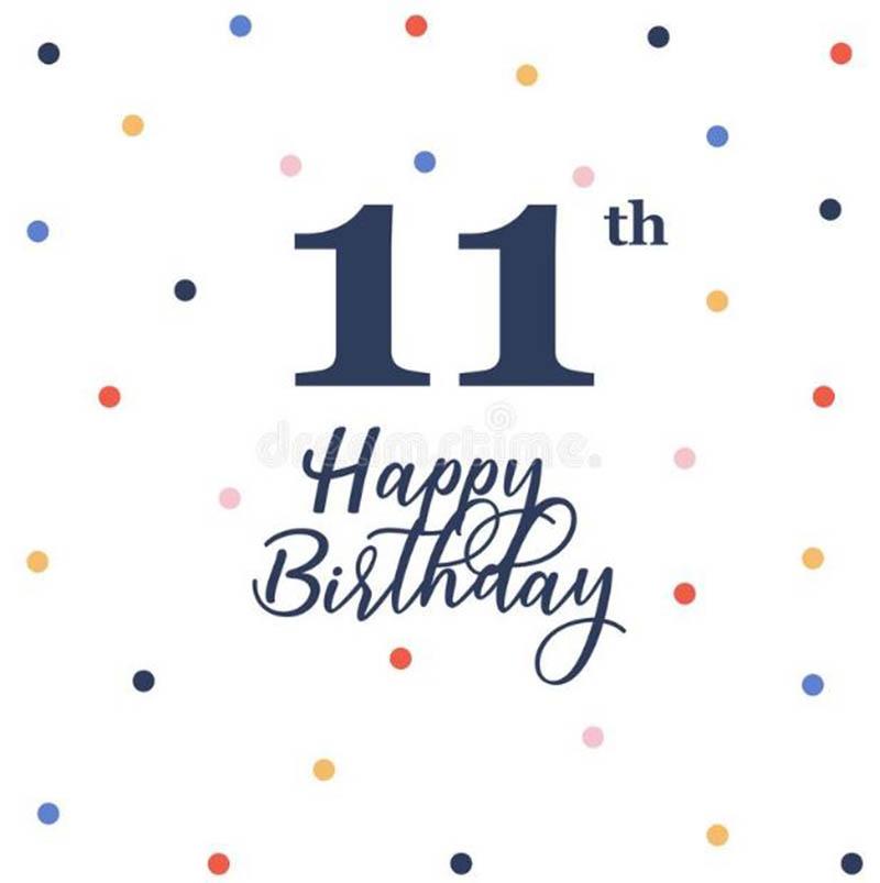 Happy 11th Birthday Images - 11