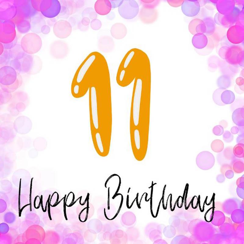 Happy 11th Birthday Images - 2