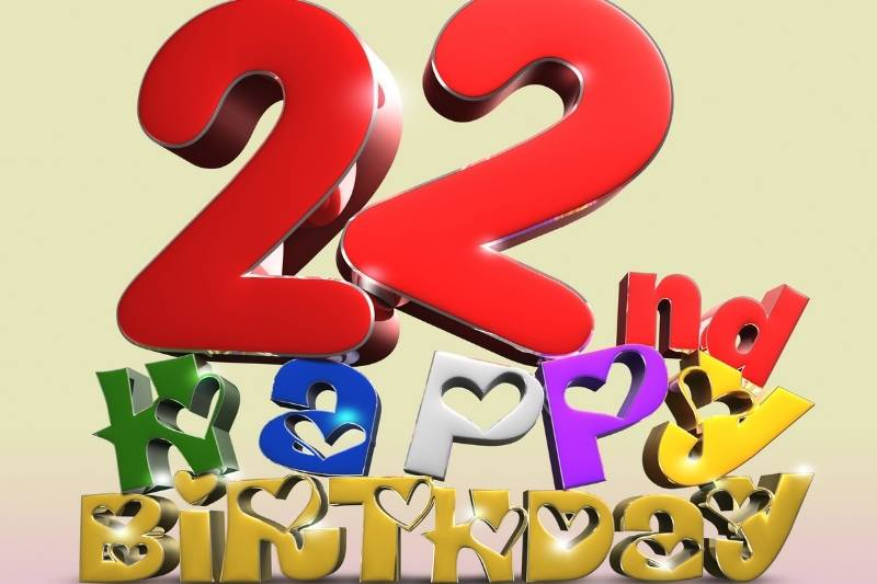 Happy 22Nd Birthday Images Free Download 2021