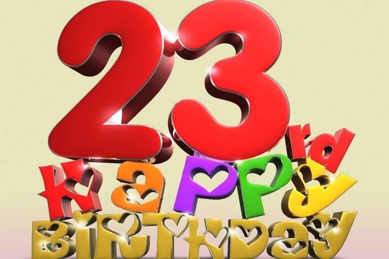 Happy 23rd birthday wishes