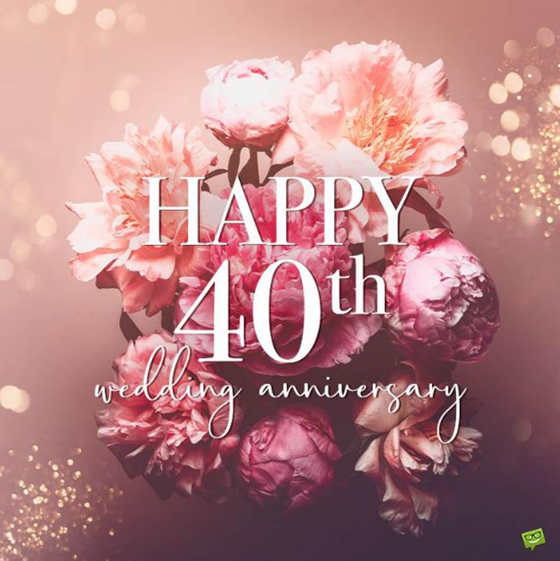 Happy 40th Wedding Anniversary Images - 12