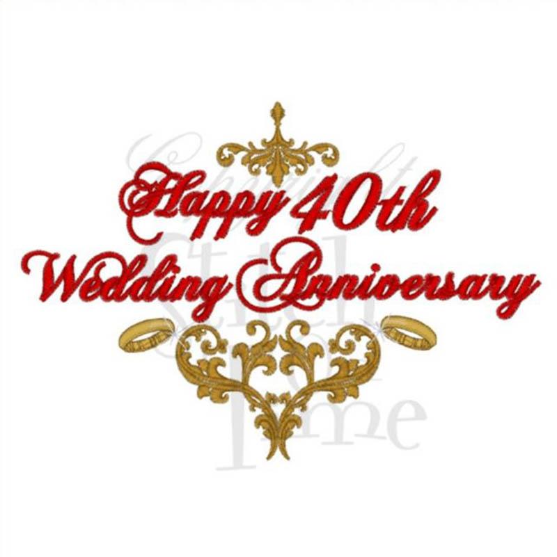 Happy 40th Wedding Anniversary Images - 22