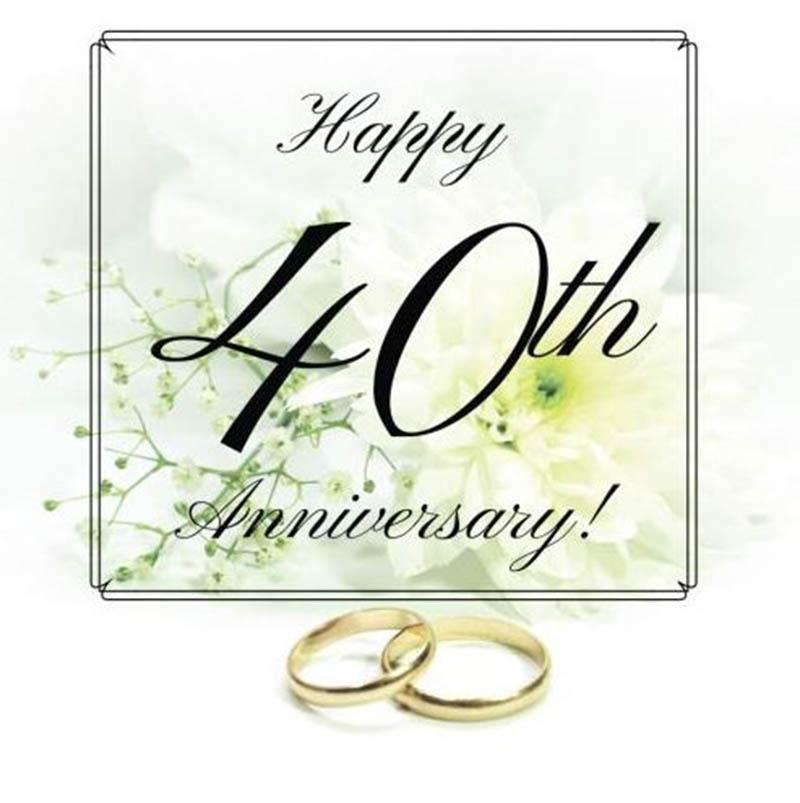 Happy 40th Wedding Anniversary Images - 26