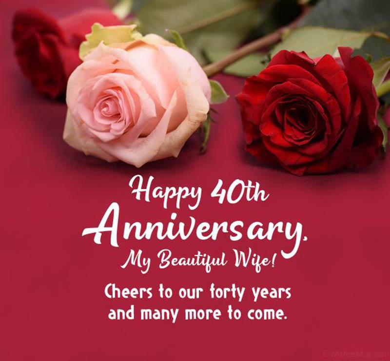 Happy 40th Wedding Anniversary Images - 27