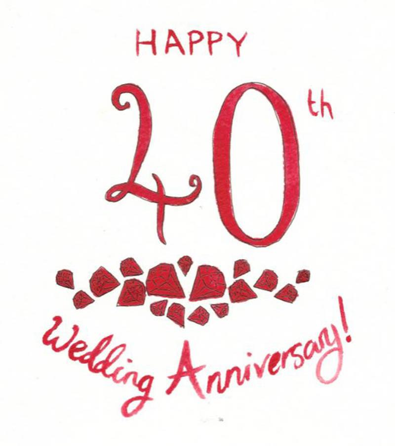 Happy 40th Wedding Anniversary Images - 28