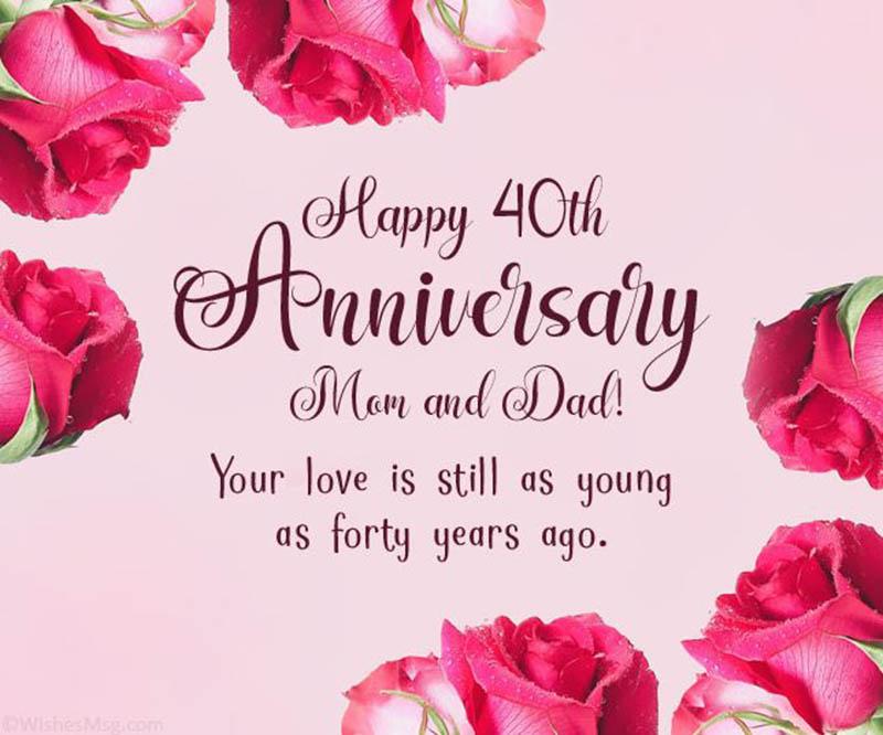 Happy 40th Wedding Anniversary Images - 30