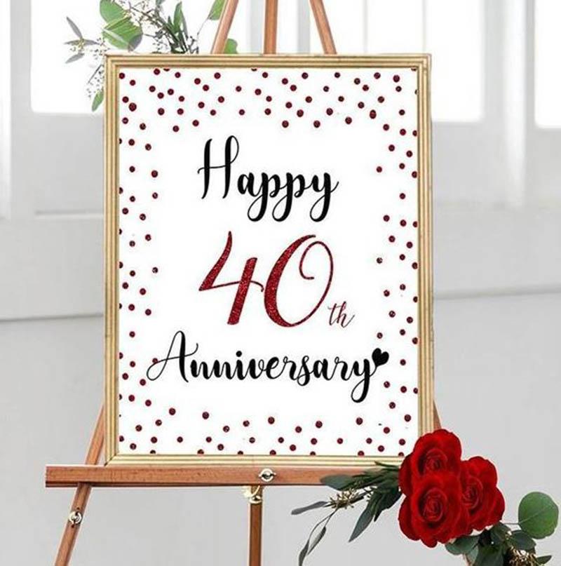 Happy 40th Wedding Anniversary Images - 31