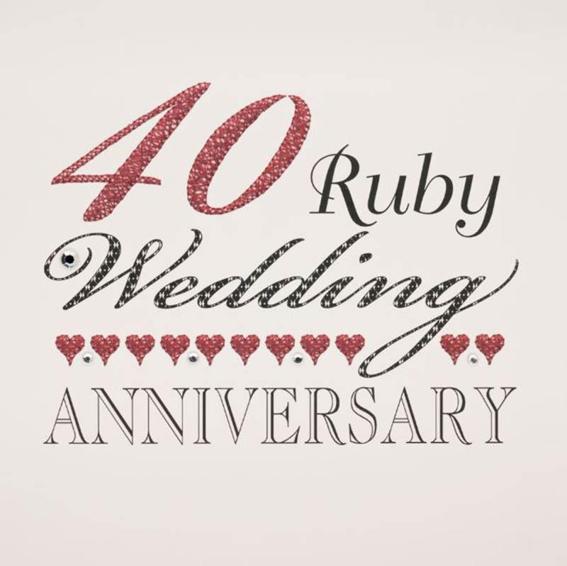 Happy 40th Wedding Anniversary Images - 40