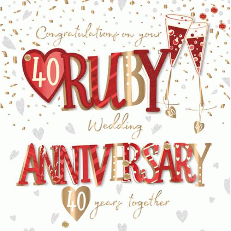 Happy 40th Wedding Anniversary Images - 41