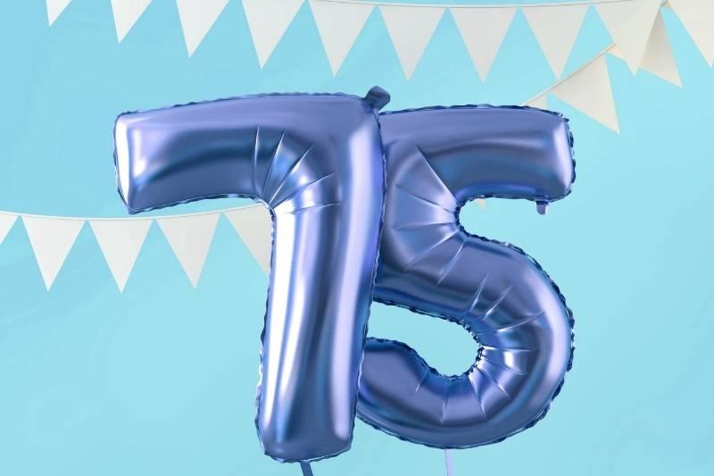 Happy 75 Birthday Images - 11