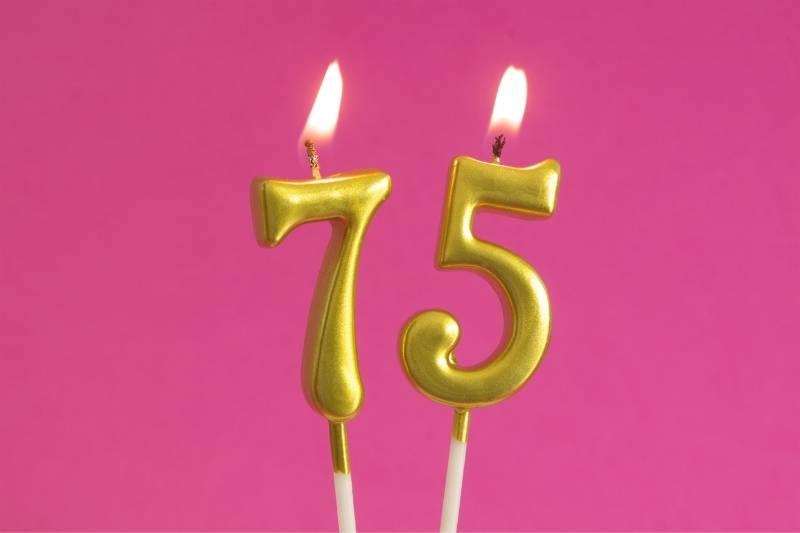 Happy 75 Birthday Images - 12